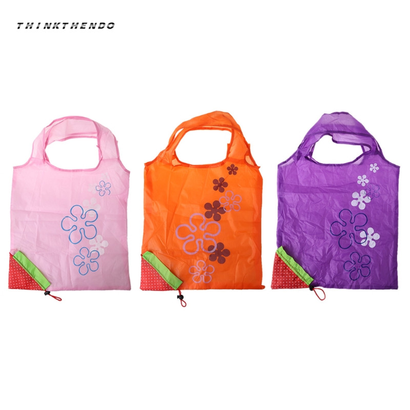 b653813613 THINKTHENDO Hot Cute Foldable Fashion Eco Handbag Reusable Bag Strawberry  Shopping Tote Bags New High Quality-in Shopping Bags from Luggage   Bags on  ...