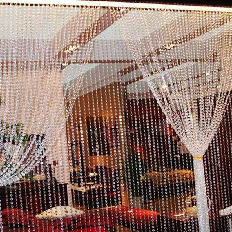 Beads Curtains Tassel-String Acrylic Party Wedding-Decoration Shiny HOT 1M Festive Octagonal