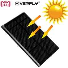Overfly Solar Panel 5V 1.25W 110*69mm Sun Cell Sunpower Solar Cell Polycrystalline Silicon Photovoltaic Solar Battery Charger