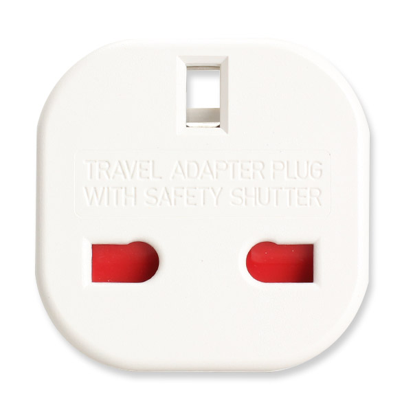 UK to EU Travel Adapter Plug Power Socket Converter with Safety Shutter for Charging Diverse Electronic Devices