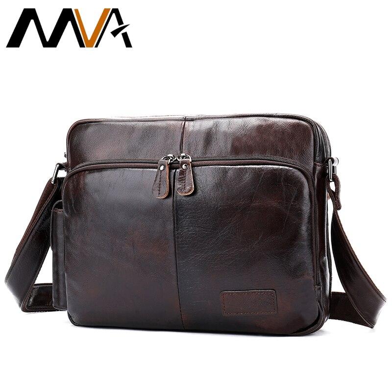 cd02913c7 MVA bolsa masculina bolso de cuero genuino para hombre bolso mensajero hombre  bolsos de hombro para los hombres bolsos hombres piel cartera de mano ...