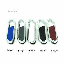 5 цветов металлическая подвесная пряжка usb флеш-накопитель ручка с карабином 4 ГБ 8 ГБ 16 ГБ 32 ГБ Флешка реальная емкость карта памяти диск