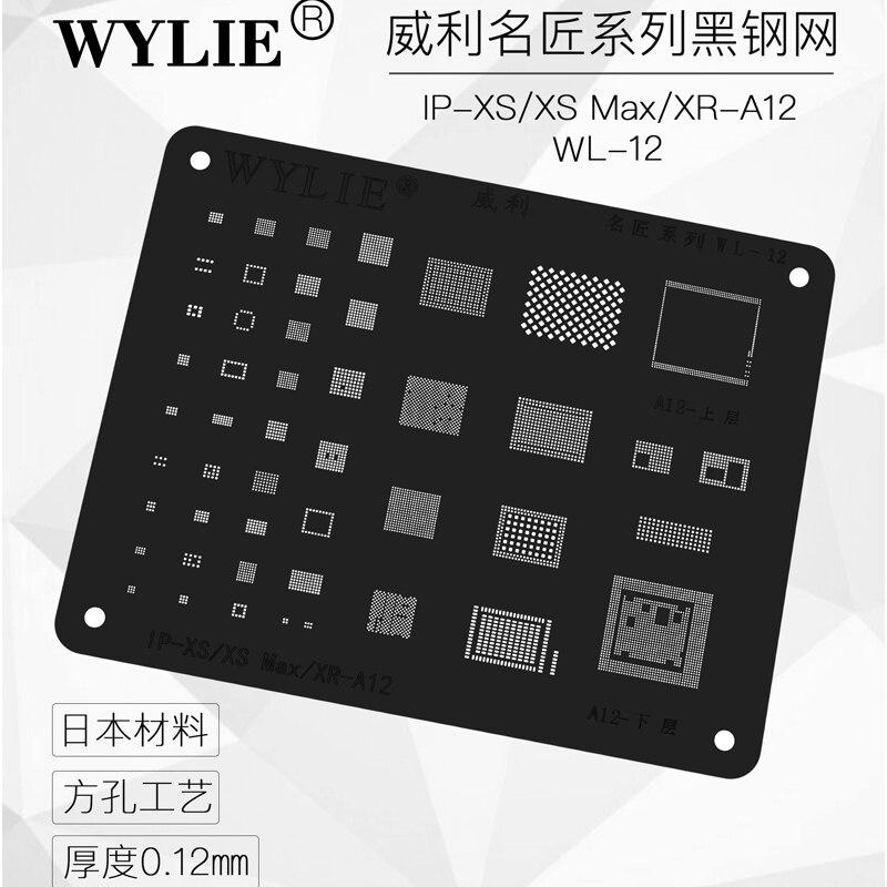 High Quality Chip BGA Reballing Stencil Kits Set Solder Template For Iphone 5 5s 6 6plus 6s 6splus 7 7plus 8/8 Plus X Xs Max XR