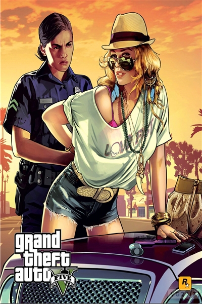 Custom Canvas Art Grand Theft Auto Poster GTA San Andreas Game Wallpaper Sexy Girl Wall Stickers Mural Christmas Decoration #751