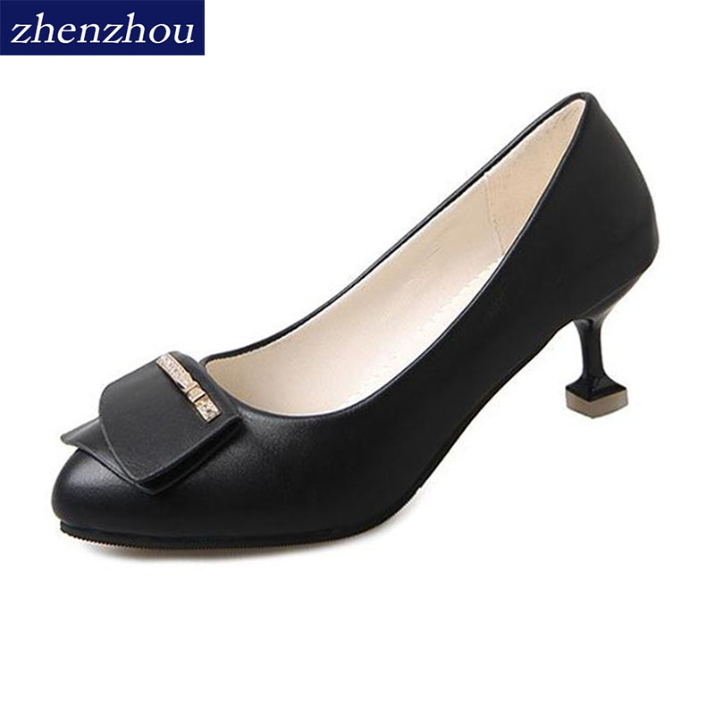 zhen zhou 2017 spring and autumn womens new fashion trend leadership Fine heels with wom ...