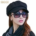 Wool Newsboy Caps for Women Cabbie Painter Beret Hats for Winter Lining Casquette Gavroche