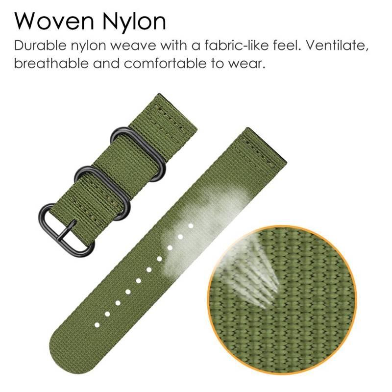 YOOSIDE 20mm Tecido NATO Nylon Watch Strap