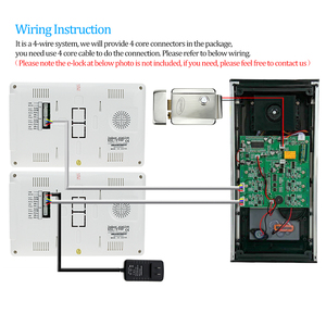 Image 5 - Sistema de intercomunicación de vídeo en Color con cable para casa, 7 pulgadas, TFT, cámara RFID de teléfono de puerta, Metal, 700TVL, con Monitor 2/3/4 para Multi apartamentos