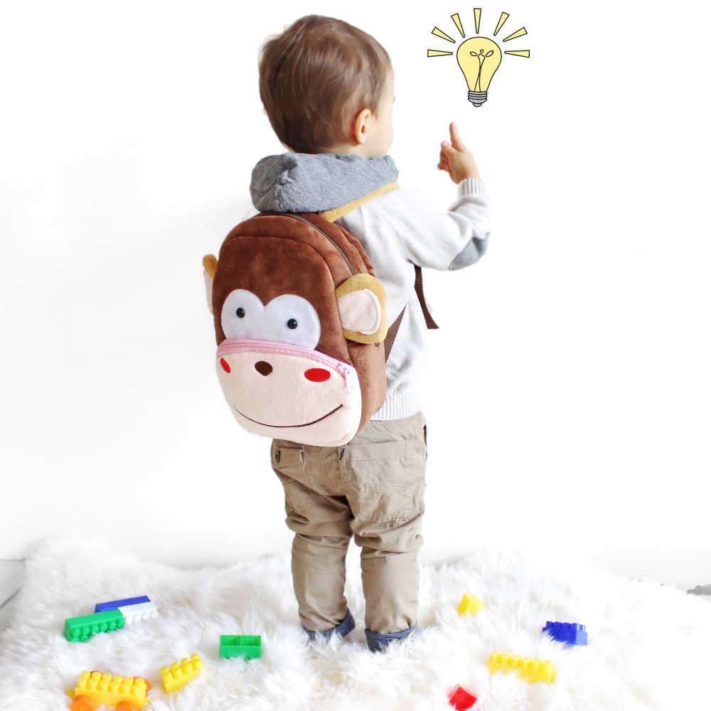Peluche Per Bambini Zaini Scuola Materna Zainetto 3D Scimmia Del Fumetto Animale Bambini Zaino Per Bambini Borse da Scuola per le Ragazze Dei Ragazzi