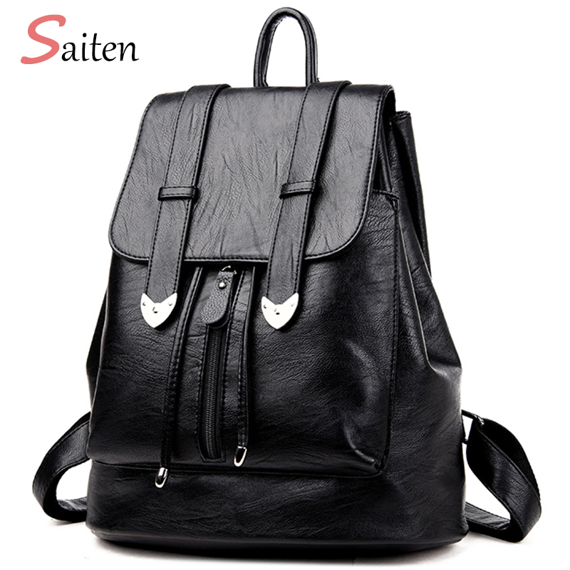 High Quality Leather Bags Women Backpacks Preppy Style School Bag For Teenage Girls Large Capacity Travel bags bolsa mochila flower princess brand canvas backpack women high school teenage girls school bags preppy style ladies travel mochila escolar
