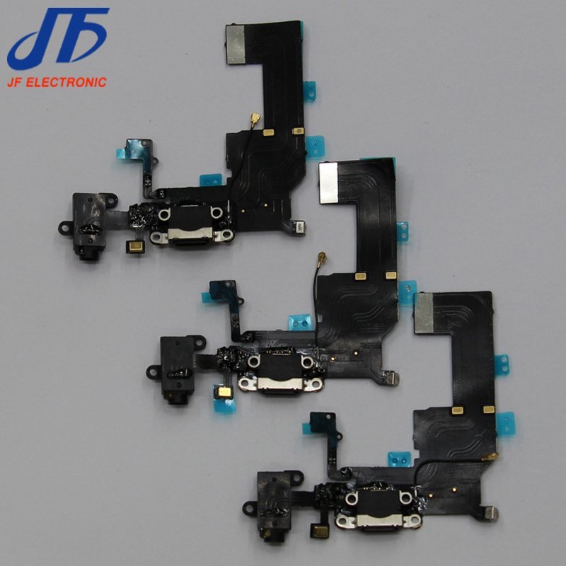 Charger Charging Port Dock Connector Flex Cable Ribbon with Headphone Audio Jack for iPhone 5c 50pcs
