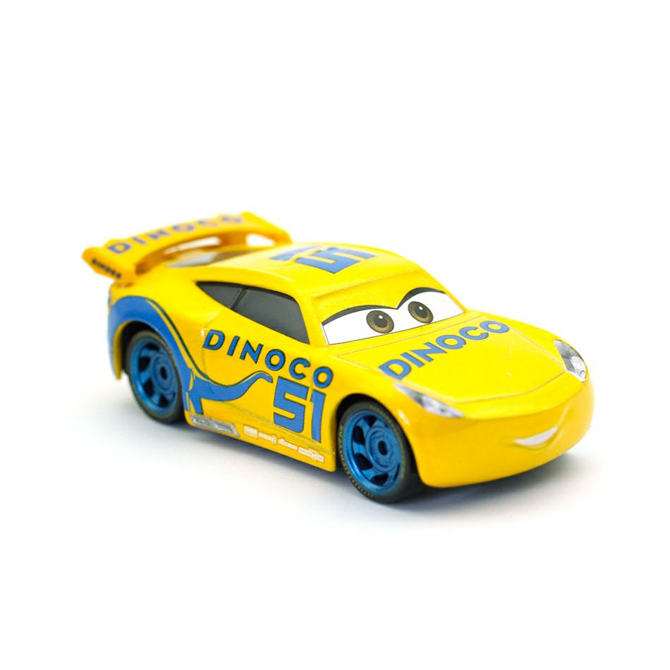 Disney Pixar Cars 3 Dinoco Cruz Ramirez Metal Diecast Toy Car 1:55 Loose Brand New In Stock & Free Shipping disney pixar cars frank and tractor diecast toy car for children gifts 1 55 loose alloy modle brand new in stock