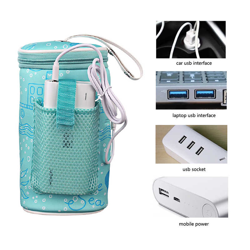 Baby Outdoor Bottle Thermostat Bag Car Portable USB Heating Intelligent Warm Milk Tool Insulation Cover