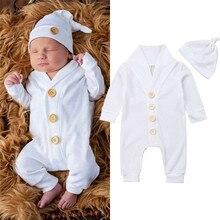 0-18M Newborn Infant Kid Baby Boy Girl Romper Long Sleeve Ju