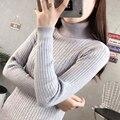 Hot Autumn Winter Women Thick Slim Pullover Jumper Turtleneck Basic Sweater Solid Color Vertical Stripes Twist Braid Jersey Coat