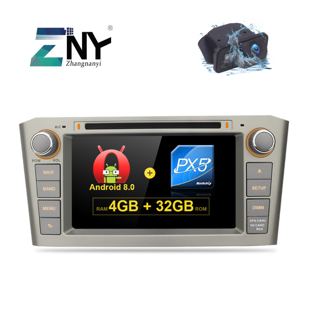 7 IPS Android 8.0 Car DVD For Toyota Avensis T25 2003 2004 2005 2006 2007 2008 Auto Radio FM RDS Stereo WiFi GPS Navigation