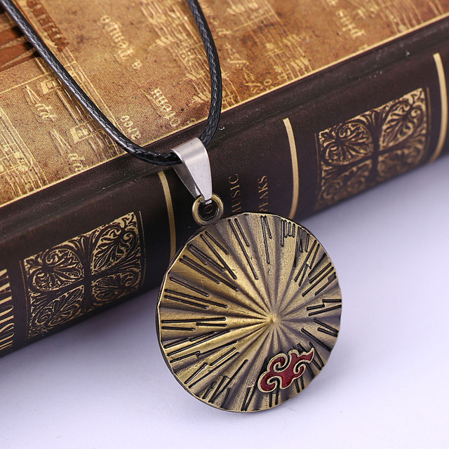 Naruto Rope Chain Bamboo Pendant Necklace
