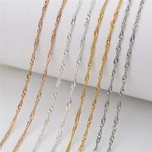 Correntes de colar, 5 m/lote dia 1mm cor dourada prata ligação a granel ferro metal pulseira colar correntes lote suprimentos de artesanato fazer joias diy