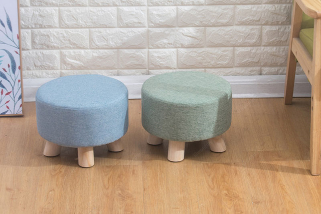 Nordic Round Fabric Wooden Chair