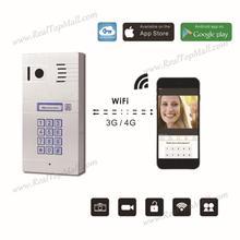 Беспроводной Wi-Fi IP видео-телефон двери Дверные звонки дверной звонок Видеодомофоны HD Камера движения Сенсор Дистанционное управление на смартфон Планшеты