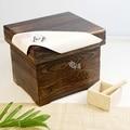 Arroz japonês balde casa caixa de armazenamento de madeira m / m armário de cozinha de pragas traça caixa de armazenamento caixa de armazenamento de grãos
