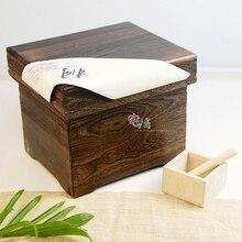 Японский риса ведро дома деревянные коробка для хранения M/M шкаф кухонный вредителями моли ящик для хранения зерна коробка для хранения