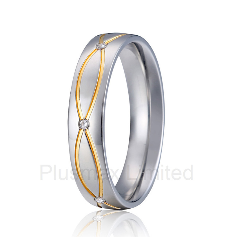 Best China factory his and hers promise wedding band fashion titanium rings best china factory amazing selection of gold color heart shape titanium wedding band rings for couples