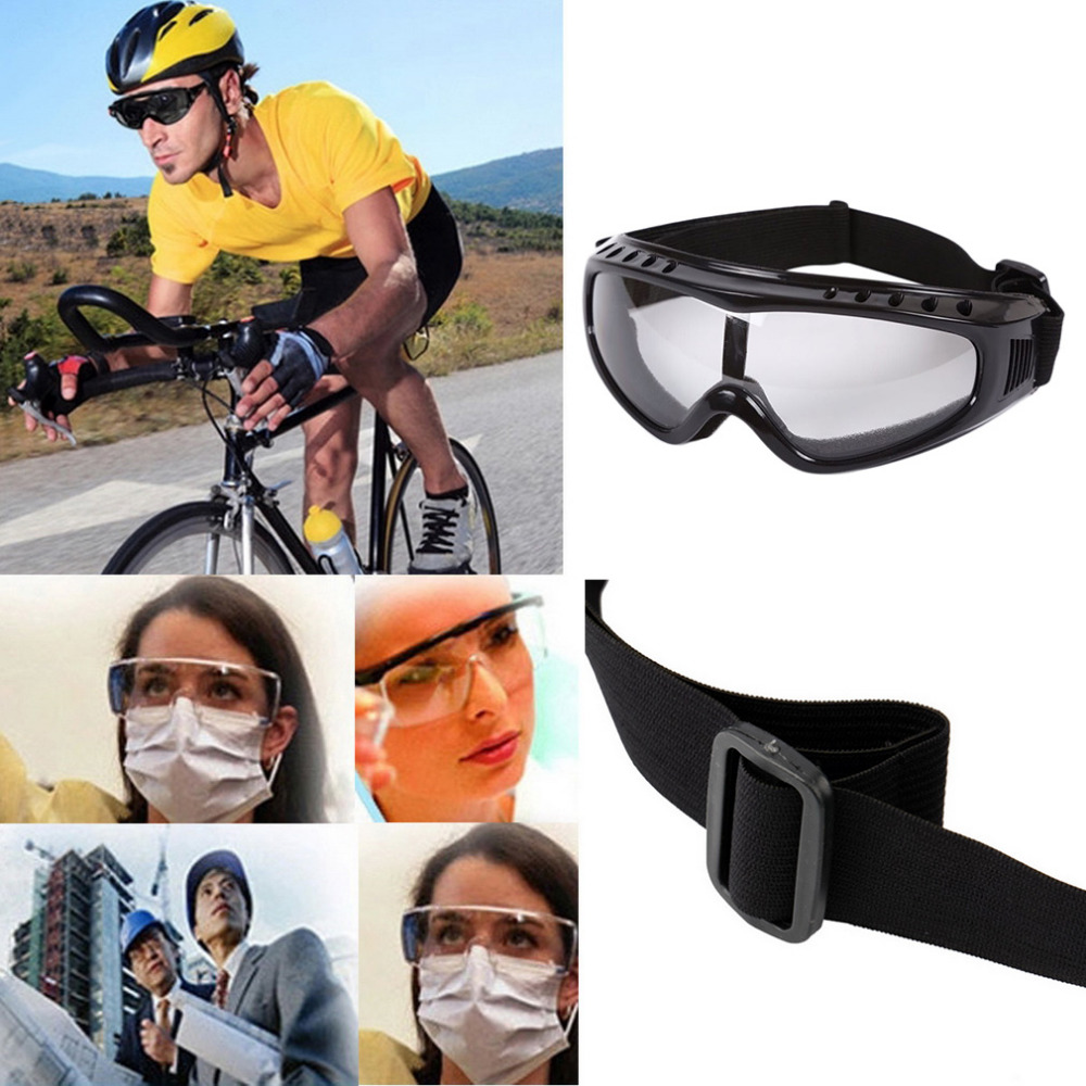 Transparent Unisex Safety Goggles Motorcycle Cycling Eye Protection Glasses Tactical Paintball Wind Dust Airsoft Goggles New tactical wargame motorcycling helmet w eye protection glasses black size l7