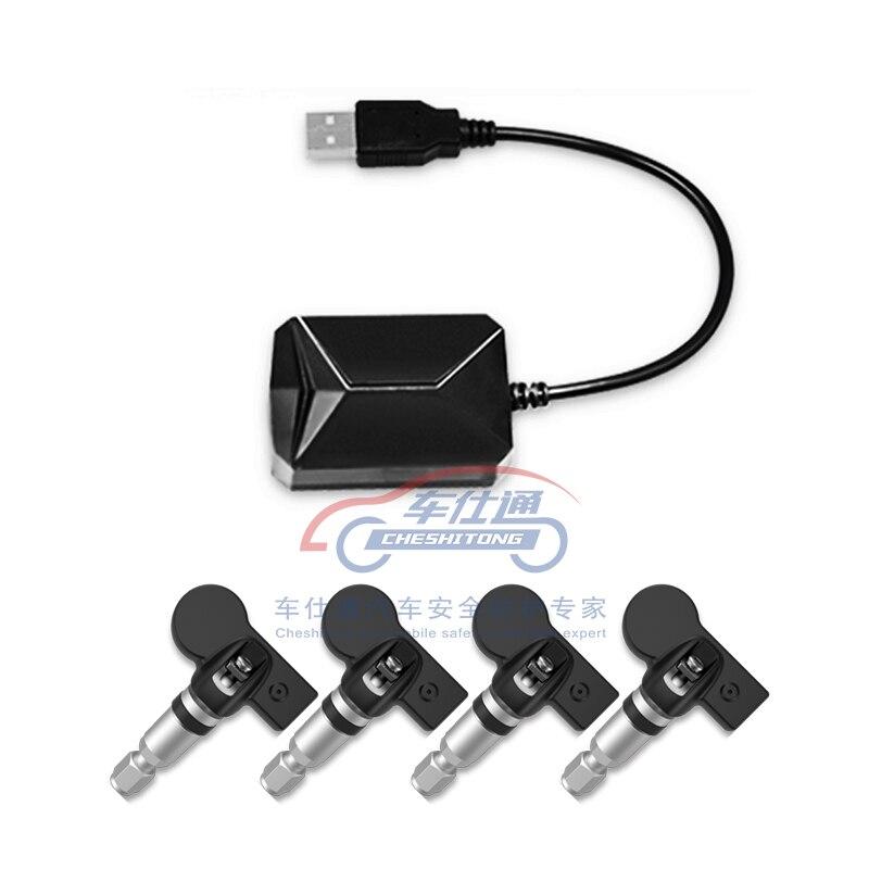 USB Android TPMS de presión de neumáticos/monitor de navegación Android de control de presión de sistema de alarma/transmisión inalámbrica TPMS - 3