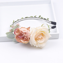 Flower Crown Women Fashion Headwear Christmas Girl Headband Flower Hair Accessories Wedding Wreath Infant Headband flower overlay headband