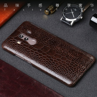 Genuine leather Phone Case For HUAWEI Mate 8 9 10 Natural Ostrich foot skin back cover For P8 P9 P10 Lite P Smart case