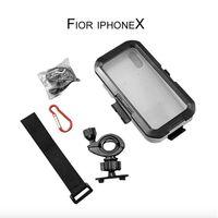 Funda impermeable para teléfono con soporte para motocicleta y bicicleta  carcasa para iPhone X