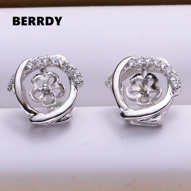 Fashion Pearl Earrings Mountings Stud Earrings Findings Earrings Settings Jewelry Parts Fittings Stud Earrings Accessories