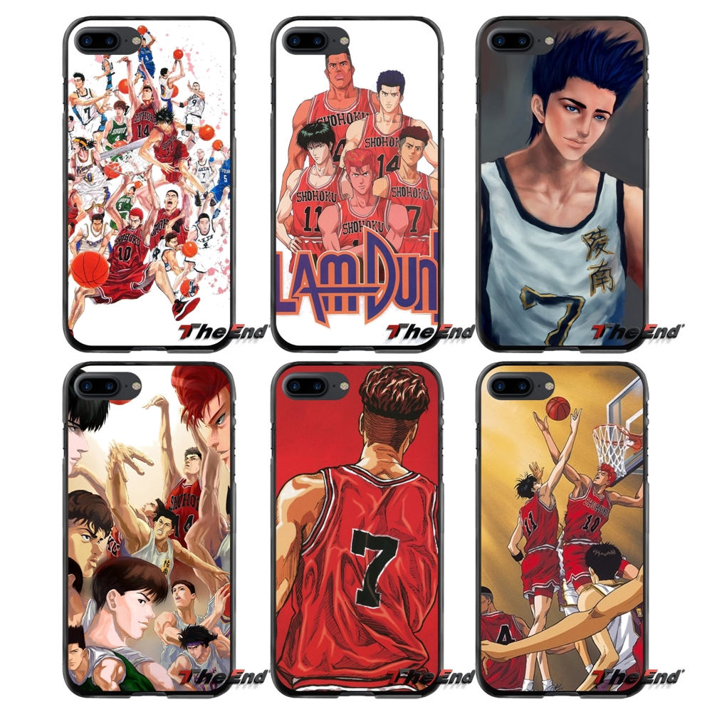 SLAM DUNK Accessories Phone Cases Covers For Apple iPhone 4 4S 5 5S 5C SE 6 6S 7 8 Plus X iPod Touch 4 5 6