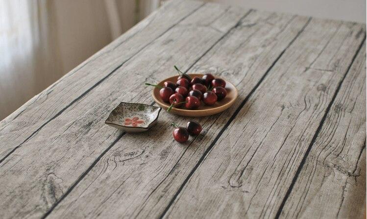 코튼 린넨 패브릭 식탁보 테이블 커버 빈티지 빈티지 나무 나뭇결