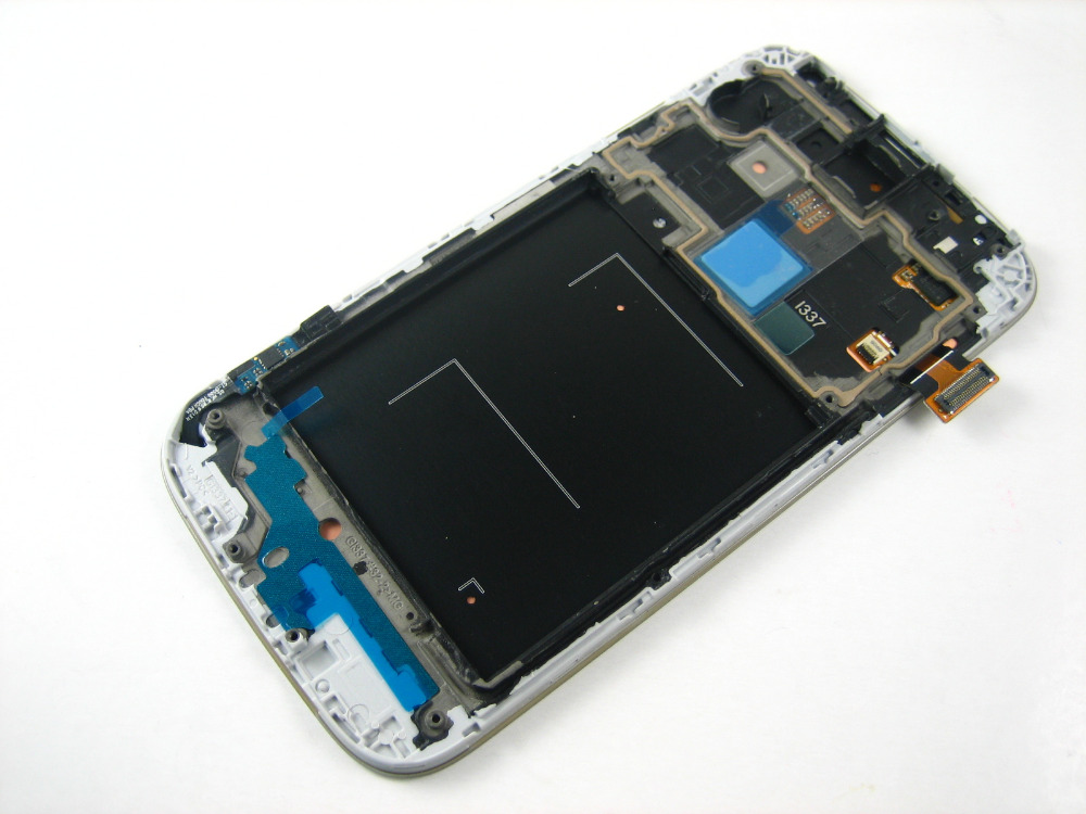 Full LCD Display + Touch Screen Digitizer + Frame for AT&T Samsung Galaxy S4 SGH-i337 i337 Blue / White