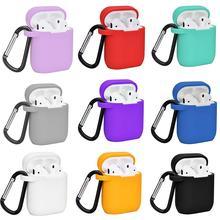Сплошной цвет силиконовый пылезащитный чехол для Apple Airpods Charge Box
