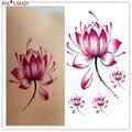 2 шт. лотоса временные татуировки водонепроницаемые татуировки придерживайтесь вставить татуировки розовые цветы трансфер таблички наклейки боди-арт татуировка X097