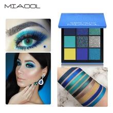 MIAOOL 9 Colors Beauty Makeup Eyeshadow Palette Obsessions Blue Pigment Eye Shadow Shimmer Matte Paleta de Sombra