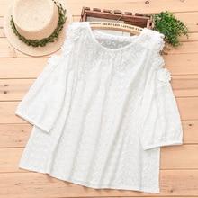 coton chemise évider Floral