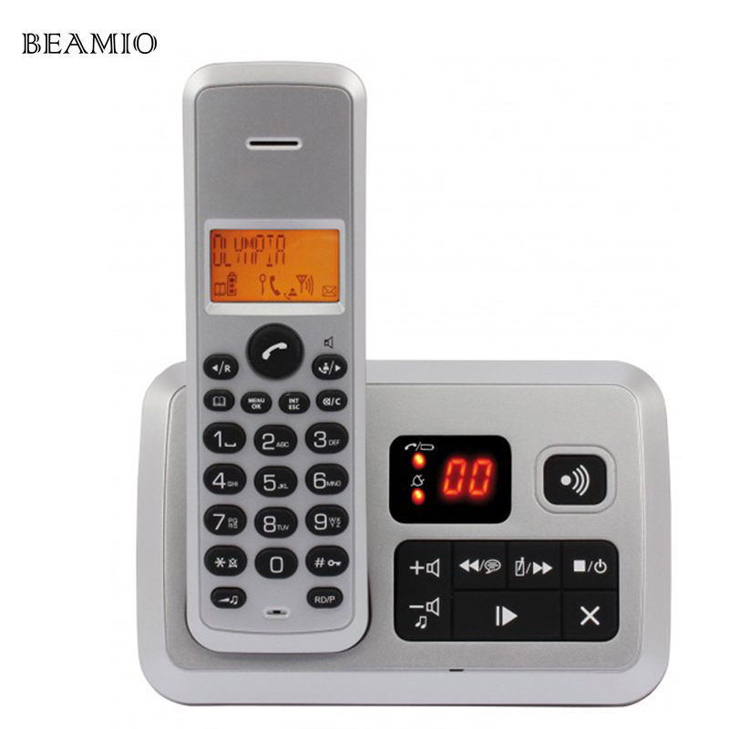 Colorful Call ID Answer System Telephone Digital Cordless Phone For Home Office Business Wireless Phone Telefone Sem Fio wireless service call bell system popular in restaurant ce passed 433 92mhz full equipment watch pager 1 watch 7 call button
