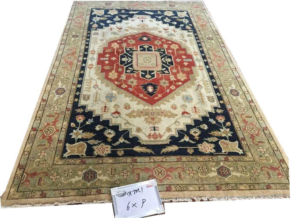 Oushak tapis Folk tapis décoration de maison Antique Vintage Art décor naturel laine de mouton