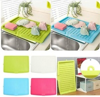 Plastic Large Sink Dish Drainer Vegetable Fruit Drying Rack Washing Holder Organizer Tray For Kitchen Tools