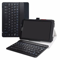 For 8.0 Samsung Galaxy Tab A 8.0 2018 SM T387 Removable Bluetooth Keyboard case,Portable Folding stand Pu Leather Case