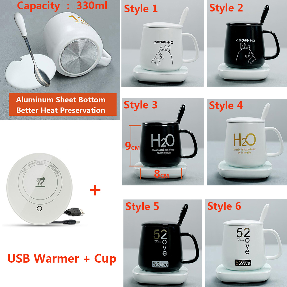 5V USB Warmer Gadgets Gravity induction Cup Pad Office Coffee Tea Drink usb Heater Constant Temperature mug Warm Ceramic cup Mat