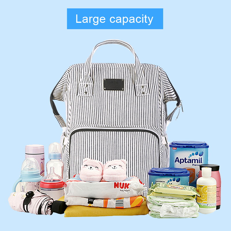 Baby Diaper Bag Mummy Maternity Travel Waterproof Bag Nappy Changing Backpack Organizer Nursing Wet Bag Large Capacity Baby Bag (9)