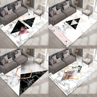 Nordic style Simple Geometry carpets for Living Room Bedroom Antiskid Soft Rug Trend 3D Marble pattern Large Size Home Area Rugs