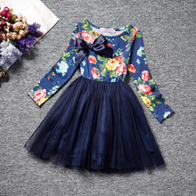3-8 year old girl dress princess wedding party little girl ceremony flower lace tutu layered dress print casual clothes 2019 summer girl dress princess wedding party little girl ceremony flower lace dress backless clothes