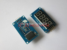 1pcs TM1637 4 Bits Digital LED Display Module For arduino 7 Segment 0.36Inch Clock RED Anode Tube Four Serial Driver Board Pack(China (Mainland))
