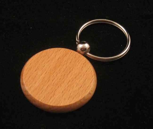 Haut Pflege Werkzeuge 120 Stücke Blank Holz Schlüsselanhänger Carving Kreis Schlüssel Tags Gravieren Diy Geschenk-fedex & Dhlfree